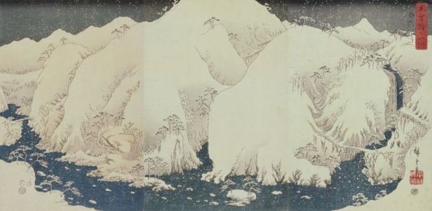Utagawa-Hiroshige-Monti-e-fiumi-lungo-la-strada-Kiso-1857-trittico-di-ōban-silografia-policroma-Nakau-Collection-1200x587-859x420