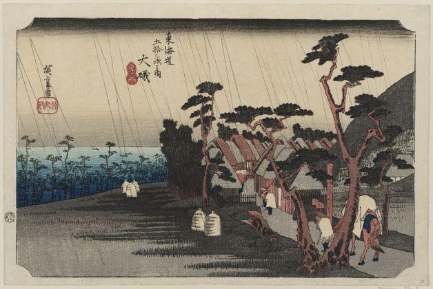 Utagawa-Hiroshige-Oiso.-Pioggia-delle-lacrime-di-Tora-del-ventottesimo-giorno-del-quinto-mese-1833-34-628x420